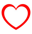 heart red color with empty in center vector image vector image