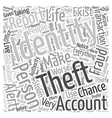 identity theft reporting Word Cloud Concept vector image vector image