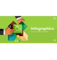 Infographic flat design banner with hands vector image vector image