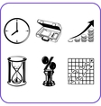 Items Office - business set vector image