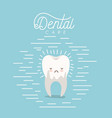 kawaii caricature dental caries in the root tooth vector image