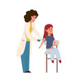 kids vaccination doctor in medical uniform and vector image