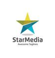 letter s star color logo vector image