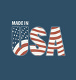 letters usa in colors american flag vector image