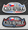 logo for czech republic vector image vector image