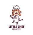 logo little chef mascot cartoon style vector image