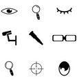 look icon set vector image vector image