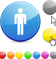 Male glossy button vector image vector image