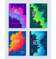 modern abstract covers design templates set vector image