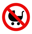 No baby carriage sign vector image vector image