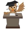 Owl speaker said on the podium vector image