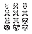 panda cartoon character icon dessign vector image