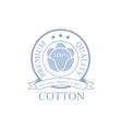 Premium Qality Cotton Product Logo Design vector image vector image