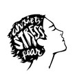 profile head with strees fear anxioety vector image vector image