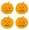 pumpkin jack o lanterns vector image vector image
