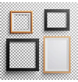 realistic photo frame 3d set square a3 vector image vector image