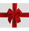 realistic red bow and ribbon isolated vector image vector image