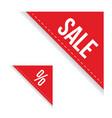 sale corner ribbon set vector image
