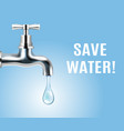save water realistic poster vector image vector image