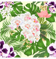 seamless texture tropical flowers spoted vector image