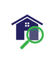 search home icon vector image vector image