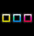 set abstract colorful glowing squares vector image vector image