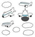 set airplane vector image
