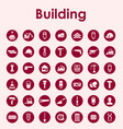 set of building simple icons vector image