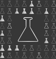 Silver line chemistry icon design set vector image vector image