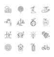 sixteen flat eco icons vector image vector image