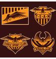 sport team crests set with eagles design template vector image vector image