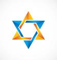 star abstract 3D shinny logo vector image
