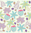summer swatch floral repeat print pattern in vector image vector image