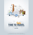 travel to india time to travel banner with vector image