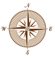 vintage brown compass vector image
