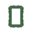 vintage rectangular frame ornament vector image vector image