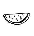 watermelon grunge icon slice watermelon grunge vector image