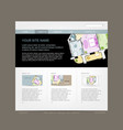 website design template for building company vector image vector image