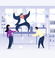 work rush office chaos flat vector image vector image