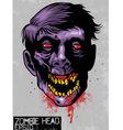 zombie head vector image vector image