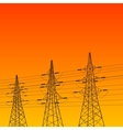 Electric pylon at sunset vector image