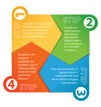 paper infographics sequence number vector image