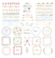 Hand drawn Doodle brushes wreath frame set vector image