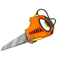 Electric saw on white vector image