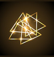 abstract background with gold neon triangles vector image vector image