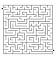 abstract complex square isolated labyrinth black vector image