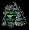 alien samurai vector image vector image