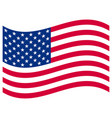 american flag on white vector image