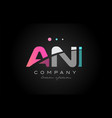 ani a n i three letter logo icon design vector image vector image