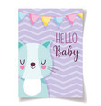 baby shower cute cat and buntings decoration